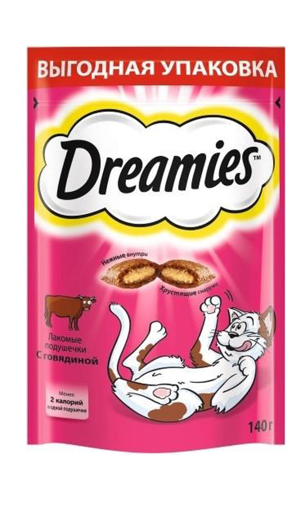 картинка Dreamies лакомства для кош. с говядиной 12*140гр