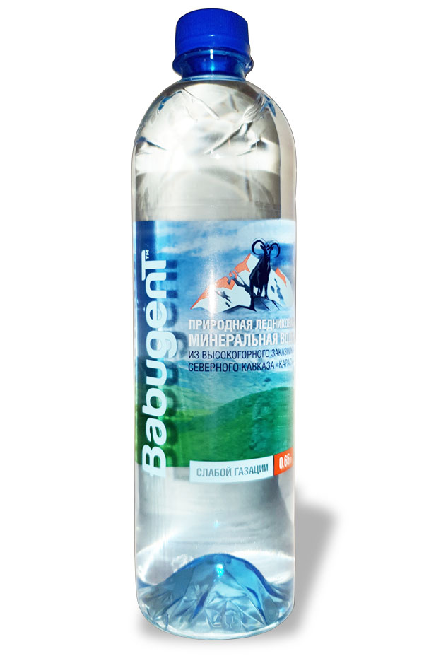 картинка вода BABUGENT слабо газированная 0,65 л.