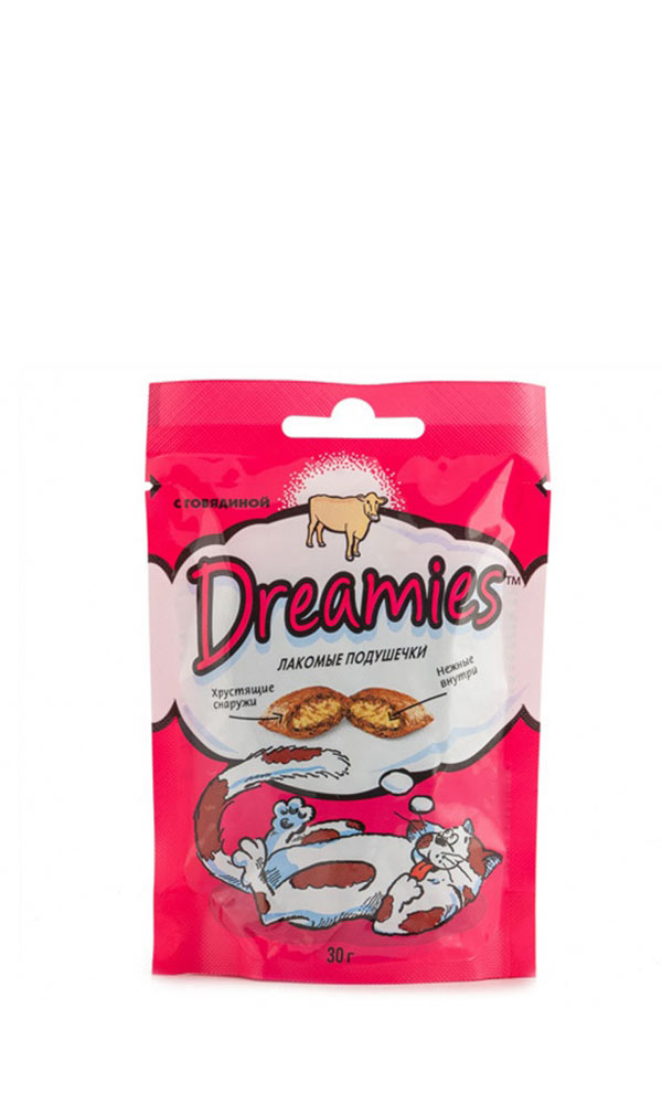 картинка Dreamies лакомства для кош. с говядиной 30гр*10